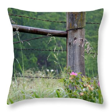 Two Sets Of Thorns Throw Pillow