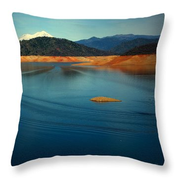 Two Shastas Throw Pillow