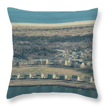 Two Sides Of Officers Row Throw Pillow