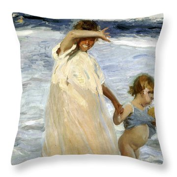 Two Sisters Throw Pillows