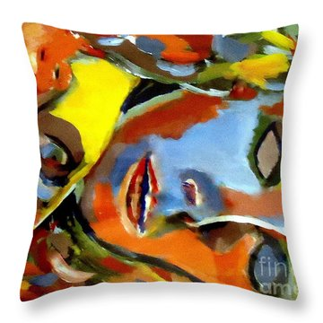 Throw Pillow featuring the painting Two Souls by Helena Wierzbicki