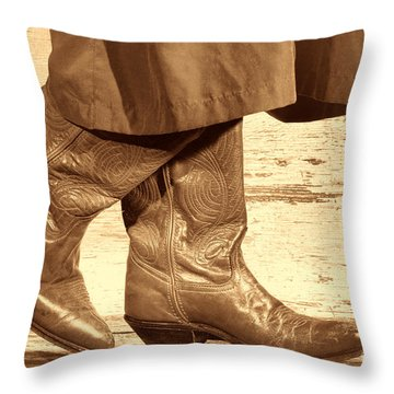 Two Step Throw Pillow by American West Legend By Olivier Le Queinec