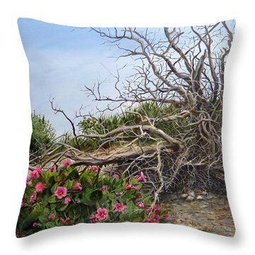 Two Stories Throw Pillow