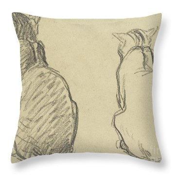 Two Studies Of A Cat Throw Pillow