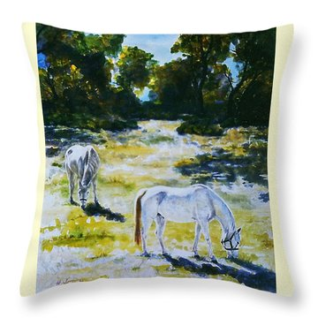 Sunlit Throw Pillow by Hartmut Jager