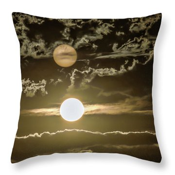 Two Suns Throw Pillow