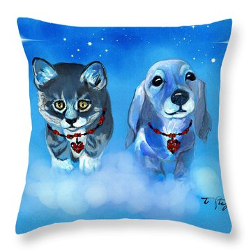 Two Sweeties Throw Pillow