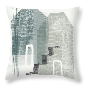 Two Tall Houses- Art By Linda Woods Throw Pillow