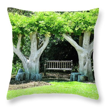 Two Tall Trees, Paradise, Romantic Spot Throw Pillow