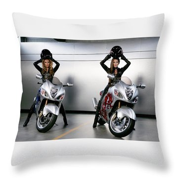 Two To Go And Go And Go. Throw Pillow by Lawrence Christopher