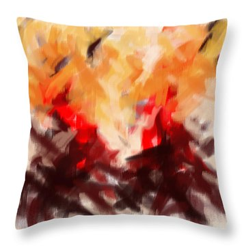 Two To Tango Abstract Throw Pillow
