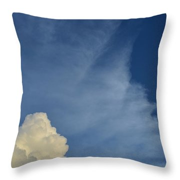 Two Tone Clouds 9384 Throw Pillow