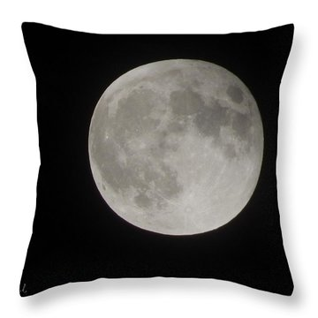 Two-tone Gray Moon Throw Pillow