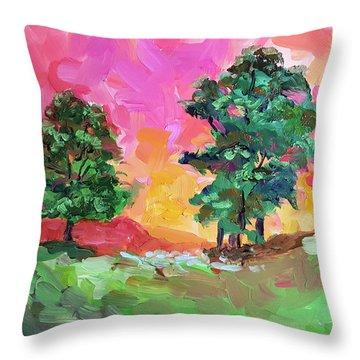 Two Trees Throw Pillow