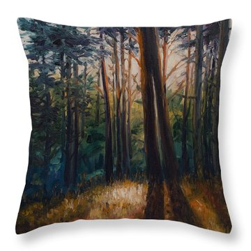 Two Trees Throw Pillow by Rick Nederlof