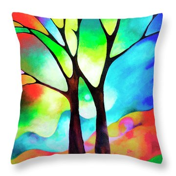 Two Trees Throw Pillow