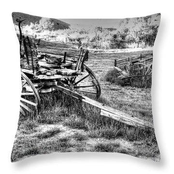 Two Wagons Throw Pillow