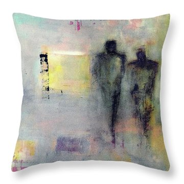 Two Walk Alone Throw Pillow