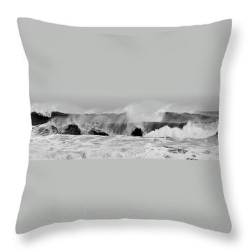 Two Waves Are Better Than One - Jersey Shore Throw Pillow