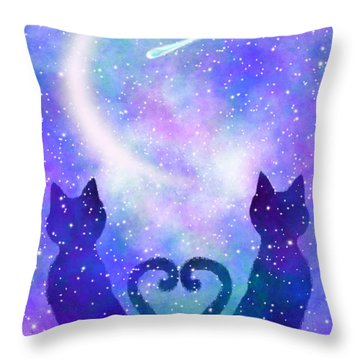 Two Wishing On A Star Throw Pillow
