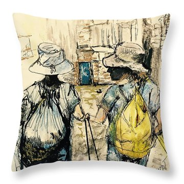 Texans On The Camino De Santiago Throw Pillow