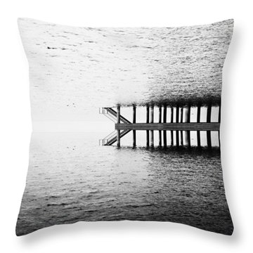 Throw Pillow featuring the photograph Two Worlds by Chevy Fleet