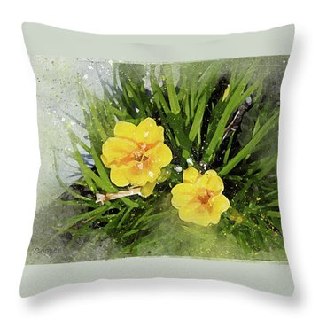 Two Yellow Beauties-2 Throw Pillow