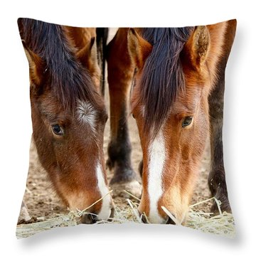 Two Young Friends Throw Pillow