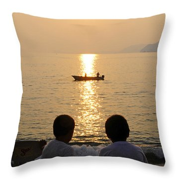 Twofer Throw Pillow by Skip Hunt