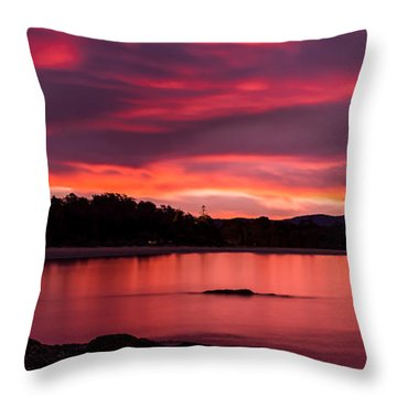 Twofold Bay Sunset Throw Pillow