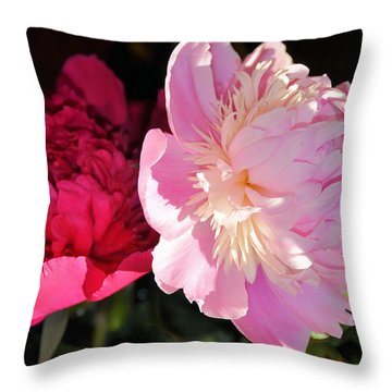 Two's Company Throw Pillow by Jan Amiss Photography