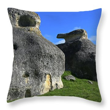 Two's Company Throw Pillow by Nareeta Martin