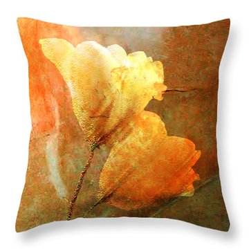 Twosome Throw Pillow by Asok Mukhopadhyay