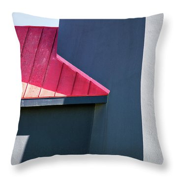 Tybee Building Abstract Throw Pillow