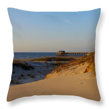 Tybee Dunes Throw Pillow