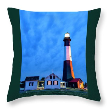 Tybee Island Lighthouse Throw Pillow