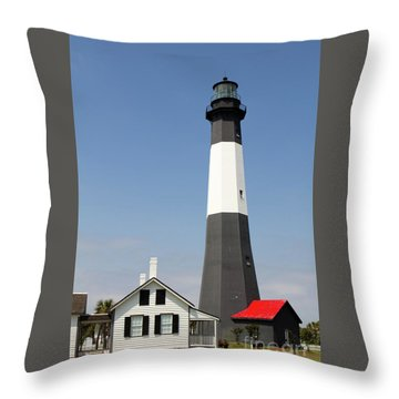 Tybee Lighthouse Georgia Throw Pillow