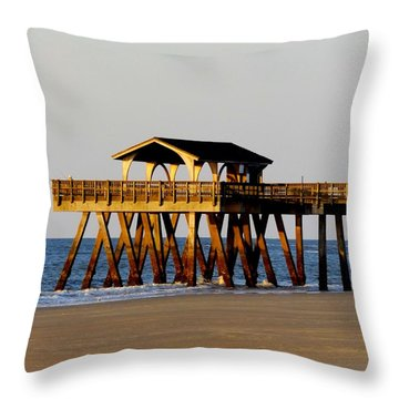 Tybee Pier Throw Pillow