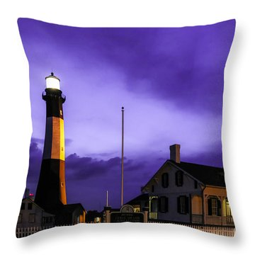 Tybee Purple Haze Throw Pillow