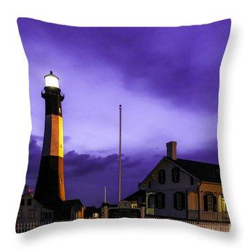 Tybee Purple Haze Throw Pillow by John Roberts