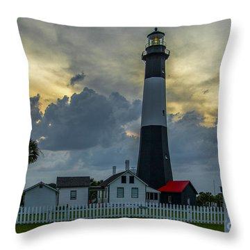 Tybee Twilight Throw Pillow by John Roberts