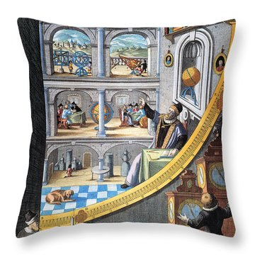 Tycho Brahe (1546-1601) Throw Pillow by Granger