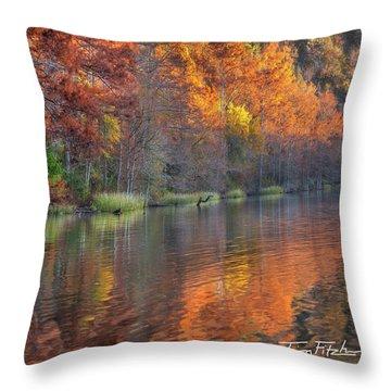 Tyler Lake Throw Pillow by Tim Fitzharris