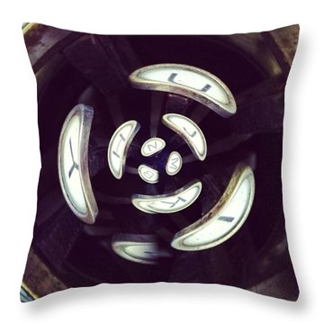 Abstract Typewriter Keys Throw Pillow by Heather Classen