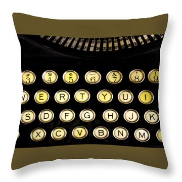 Typewriter Throw Pillow by Christopher Woods