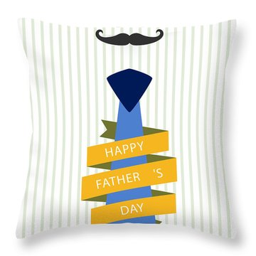 Typography Poster - Happy Father's Day Throw Pillow