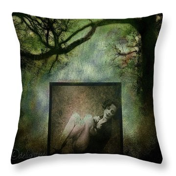 Throw Pillow featuring the digital art Tyranny Of Pretty by Delight Worthyn