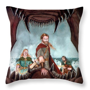 Tyr's Challenge Throw Pillow