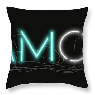 U Are Diamond - Neon Sign 1 Throw Pillow
