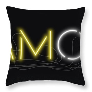U Are Diamond - Neon Sign 2 Throw Pillow